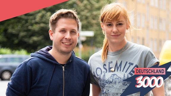 Kevin Kühnert zusammen mit Eva Schulz für Deutschland3000.