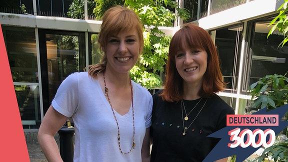 Eva Schulz und Mirella Precek für den Podcast Deutschland3000.