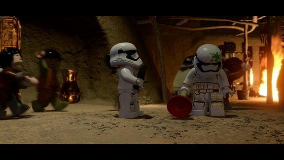 """Legofiguren im Computerspiel """"Lego Star Wars - Das Erwachen der Macht"""""""