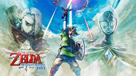 Titelbild des HD-Remakes des Games The Legend of Zelda: Skyword Sword, welches Nintendo für die Nintendo Switch neu aufgelegt hat.