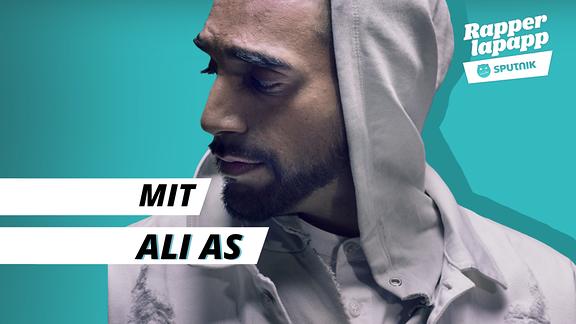 Rapper Ali As mit Rapperlapapp Logo
