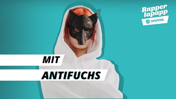 Rapperin Antifuchs mit Rapperlapapp Logo