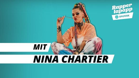 Rapperlapapp Episodenbild Rapperin Nina Chartier breit