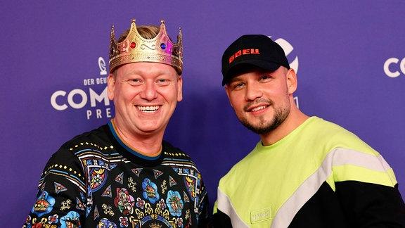 Jens Knossalla und Mark Filatov bei der Verleihung des 24. Deutschen Comedypreises 2020 in Brainpool TV Studio Köln-Mülheim.