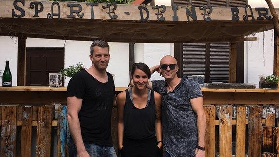 """SPUTNIKerin Kathi mit Jan und Sven von """"SPARTE DEINE BAR"""" in Naumburg"""