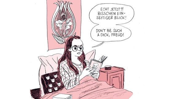 """Zeichnung aus dem Sachcomic """"Girlsplaining"""" von Katja Klengel"""