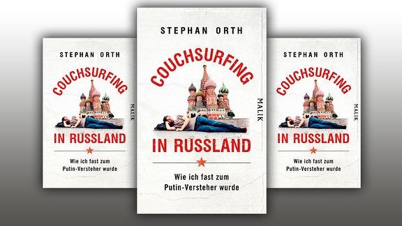 """Couchsurfing in Russland"", Buchcover"