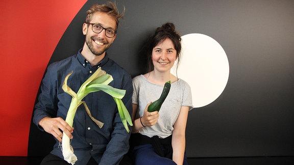 """Anna und Felix von """"Crumme Sache"""" in Halle"""