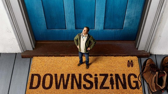 """Matt Damon im Film """"Downsizing"""" (Plakatausschnitt)"""