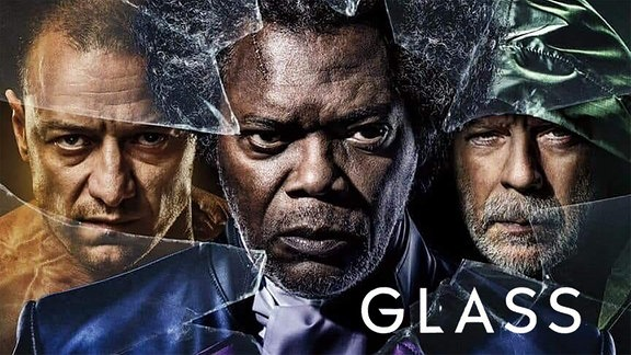 """Glass"", Film mit Bruce Willis, Samuel Jackson und James McAvoy"
