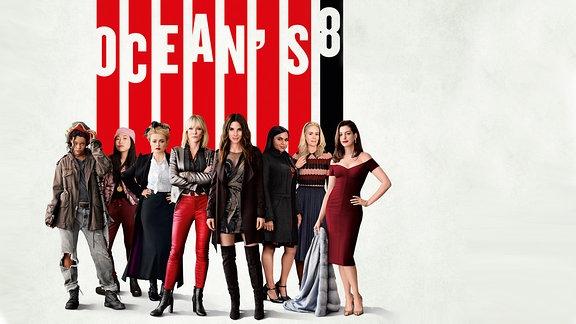 """Ocean's 8"" mit Helena Bonham-Carter, Anne Hathaway, Cate Blanchett, Sandra Bullock, Sarah Paulson, Rihanna, Mindy Kaling und Awkwafina"