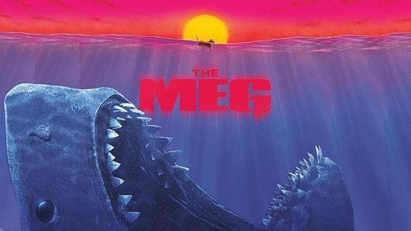 """The Meg"", Plaktausschnitt, Ur-Hai (Megalodon) taucht auf"