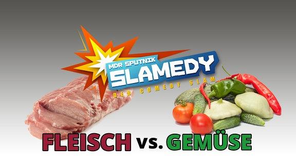 Fleisch vs. Gemüse | Imagebild