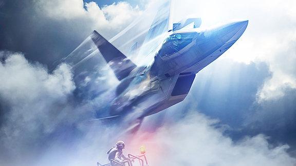 Szene aus Ace Combat7: Skies Unknown (PlayStation 4 und Xbox One sowie für Windows-PCs)