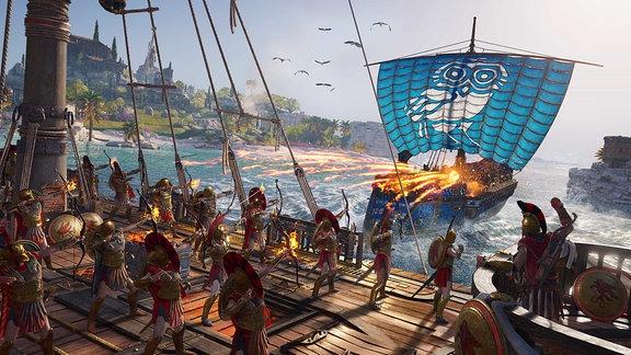 Seeschlacht in der griechischen Antike (shot aus Assassin's Creed Odyssey)