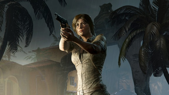 "Lara Croft in ""Shadow Of The Tomb Raider"" (Screenshot)"