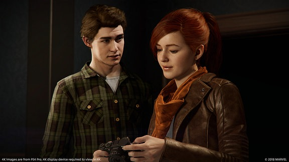 Peter Parker und Mary Jane, Screenshot aus dem Marvel-Game Spider-Man