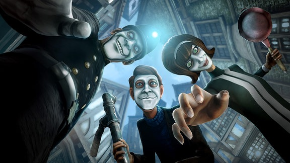 "Figuren aus ""We happy few"""