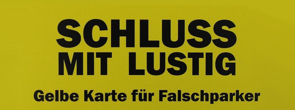 Gelbe Karte Lustig.Gelbe Karte Für Falschparker