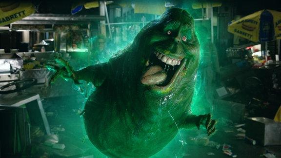 Grünes Monster namens Slimmer