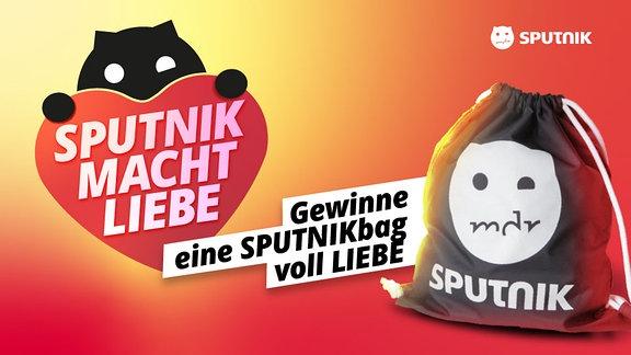 SPUTNIK-Gymbag und ein Emoji-Herz