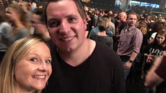 SPUTNIKerin Kathrin und Olaf bei Casper in der Arena Leipzig