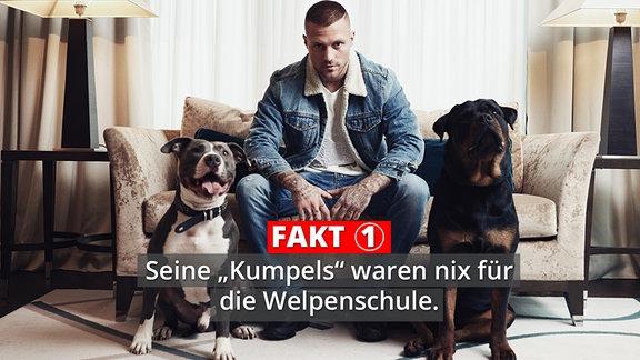 Kontra K mit seine Hunden