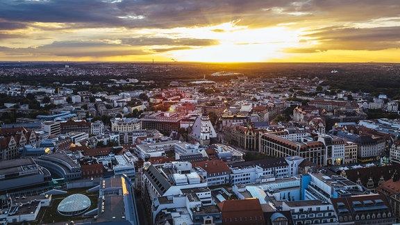 Stadtansicht von Leipzig