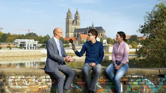 AfD Bundestagsabgeordneter FRank Pasemann, Raimund Fichtenberger, Hörerin Anne aus Magdeburg