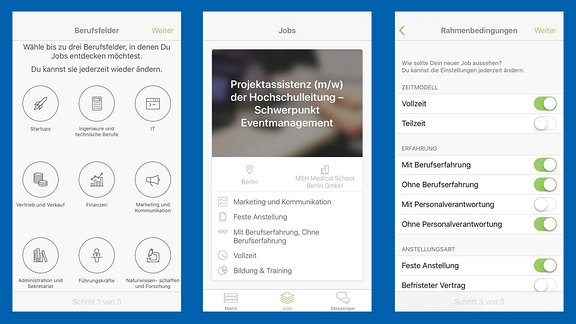 "Screenshots der App ""truffls"""