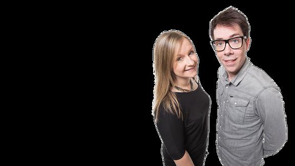 Die Moderatoren Kathrin Hammer und Raimund Fichtenberger