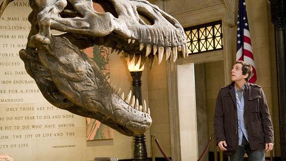 """T-Rex aus """"Nachts im Museum"""", Szene mit Ben Stiller"""