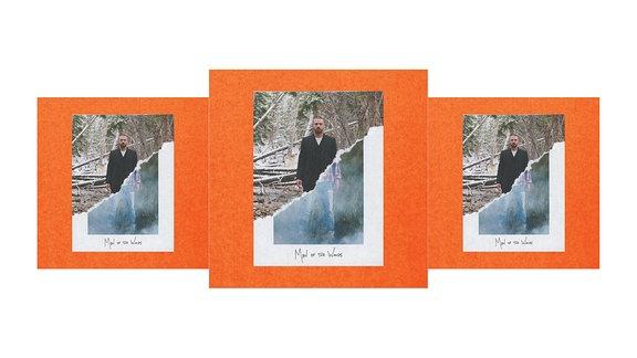 Justin Timberlakes Albumcover zum Album Man Of The Woods. Zu sehen ist er auf einem Polaroid mitten im Wald