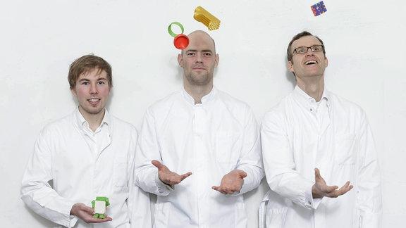 Das Gründertrio von Tinker Toy: Sebastian Friedrich (Dipl. Wirtschaftsingenieur), Sebastian Schröder (Dipl. Designer), Dr. Marko Jakob (MBA)