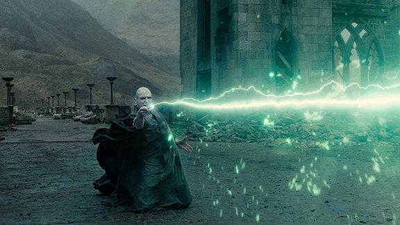 Ralph Finnies alsValdemort, Filmszene aus Harry Potter