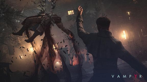 "Szene aus dem Game ""Vampyr"""