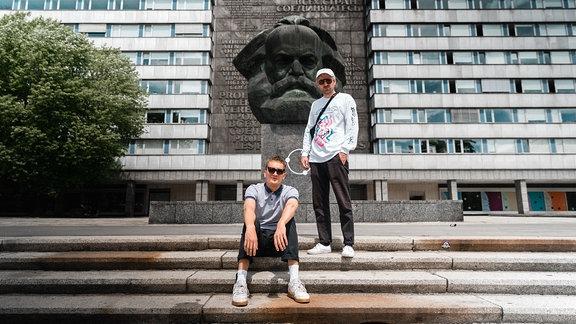 Steffen Israel und Felix Brummer bei Radio mit K im Juli 2019.
