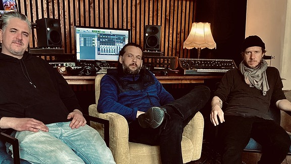 Das DJ-Trio Max Joni & SoKool.