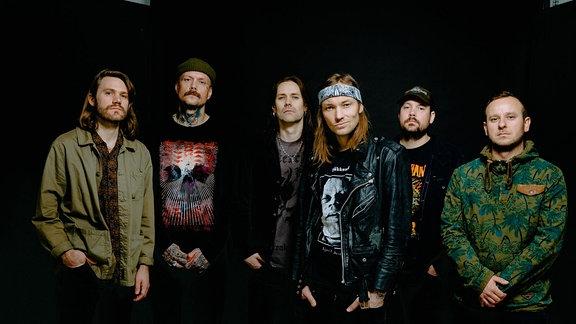 Die norwegische Metal-Band Kvertelak.