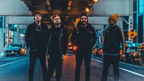 Die vier Mitglieder der US-amerikanischen Band The Used.