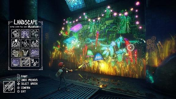 Screenshot aus dem Spiel Concrete Genie.