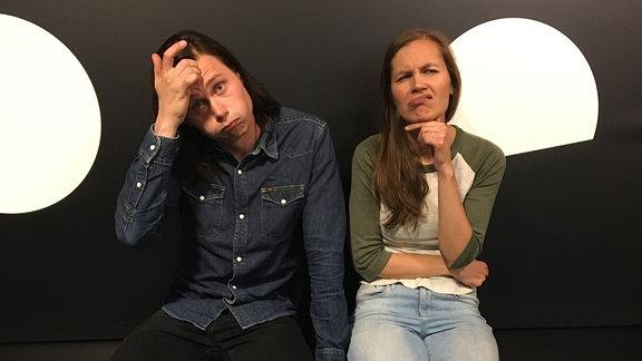 Schauspieler Moritz Jahn und SPUTNIKerin Theresa.