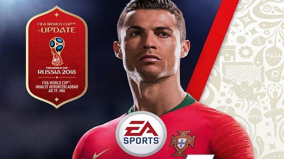 Portträt von Christiano Ronaldo in rotem Trikot