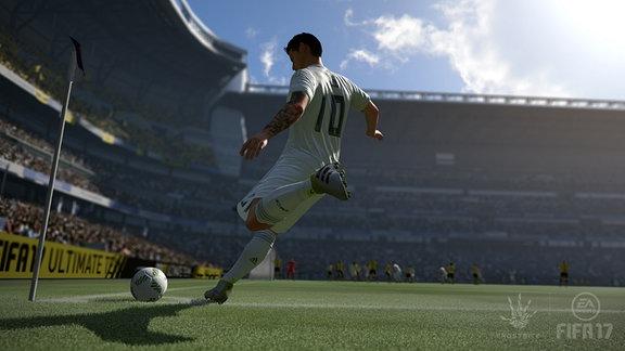 """Szene aus der Fußball-Simulation """"Fifa 17"""" von EA Sports"""