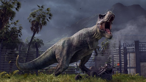"Spielszene aus ""Jurassic World Evolution"""