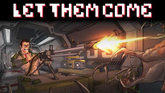 Screenshot aus dem Mobilgame Let Them Come