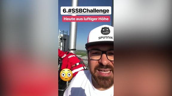 "Screenshot aus Insta-Story ""Turm-Challenge"""
