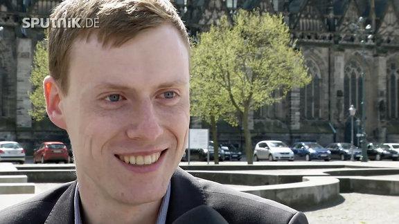 Jan Schmidt, junger Landtagsabgeordneter von der AfD