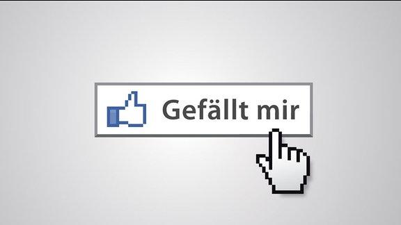 """""""Gefällt mir""""-Button im Look von Facebook"""