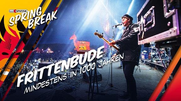 """Frittenbude performen ihren Song """"Mindestens in 1000 Jahren"""" auf der Bühne beim SPUTNIK SPRING BREAK 2016"""